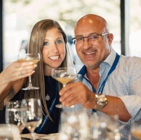 Jim Cantore with his girlfriend, Andrea Butera.