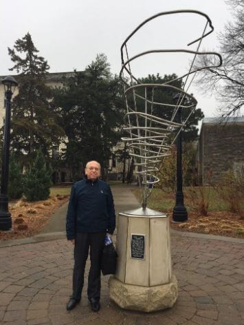 Dr. Greg Forbes at the sites of the EF4 tornado hit Kansas State University.