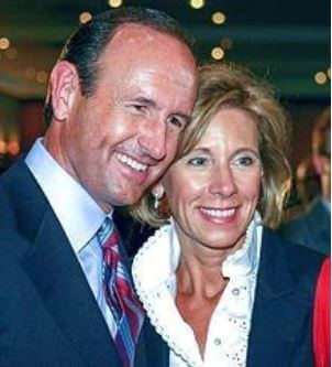 Betsy DeVos with her husband, Dick DeVos.