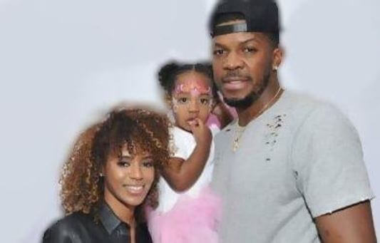 Candise Zephrine with ex-fiance, Joe Johnson and daughter Justice Johnson.
