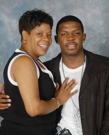 Candise Zephrine's ex-fiance, Joe Johnson with his mother, Diane Johnson.