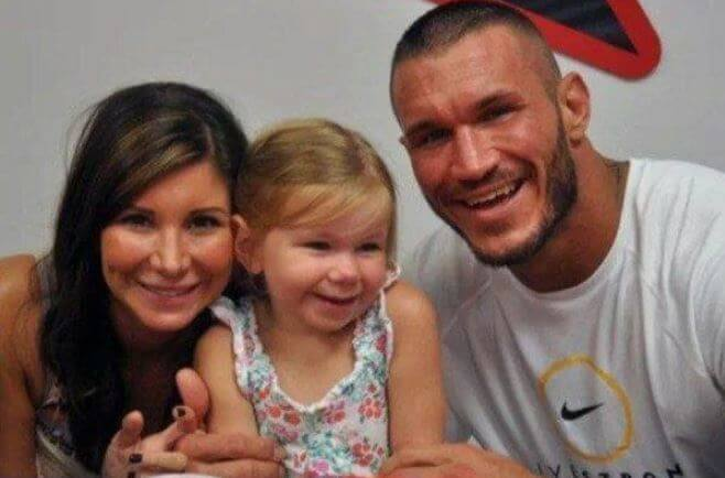 Alanna Marie Orton with her parents, Randy Orton and Samantha Speno.