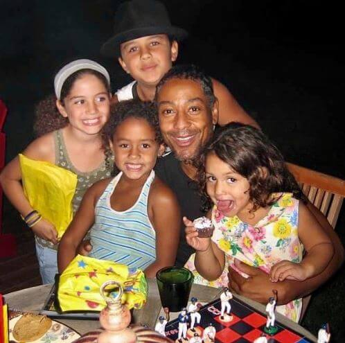 Shayne Lyra Esposito with her father, Giancarlo Esposito and sisters.