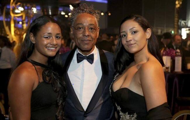 Shayne Lyra Esposito with her younger sister, Syrlucia and father, Giancarlo Esposito at 71st Emmys Governors Ball.