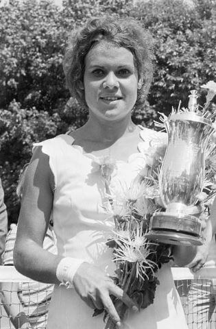 Roger Cawley's wife, Goolagong Cawley at the 1971 Dutch Open.