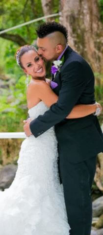Jodi Stewart and Sean Paul on their big day.
