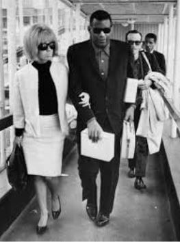 Eileen Williams with her ex-husband, Ray Charles.