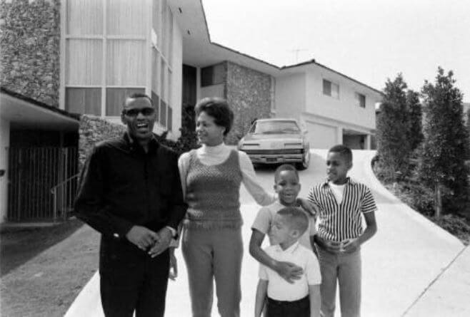Eileen Williams's ex-husband, Ray Charles, with his second wife and children.