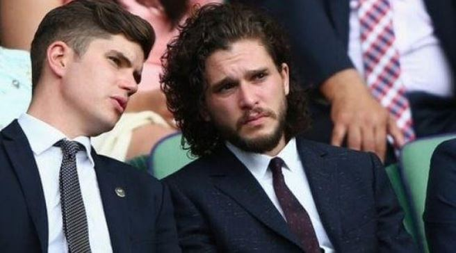 John Harington with his brother, Kit Harington.