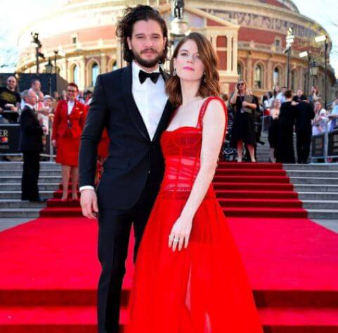 John Harington's brother, Kit Harington with his wife, Rose Leslie.