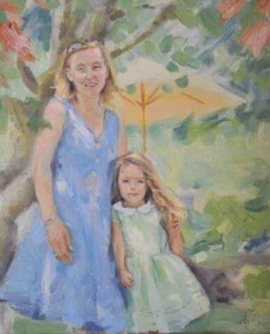 Painting made by Rose Boorman's mom, Eleanor Boorman.