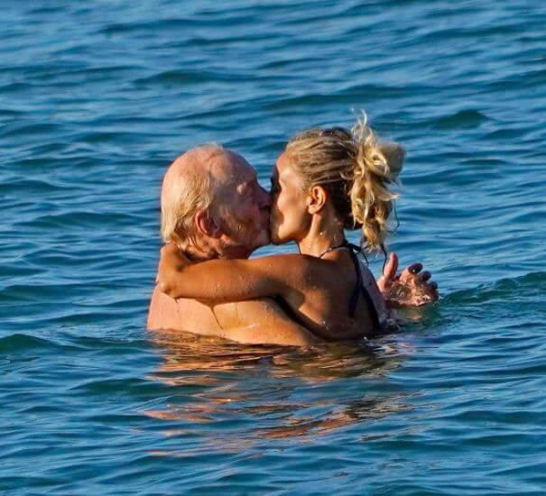 Rose Boorman's father, Charles Dance with his girlfriend, Alessandra Masi.