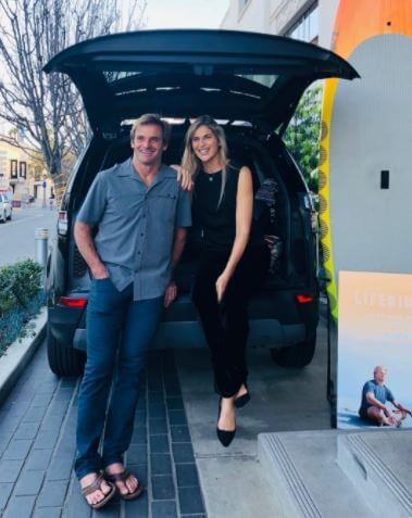 Maria Souza's ex-husband, Laird Hamilton, with his present wife, Gabrielle Reece.