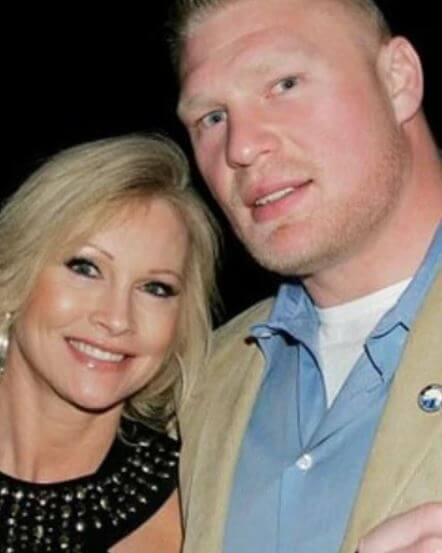 Mariah Richardson's mother, Sable with her current husband, Brock Lesnar.