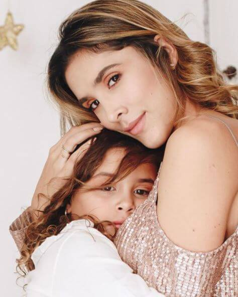 Daniela Ospina with her daughter, Salome Rodriguez.