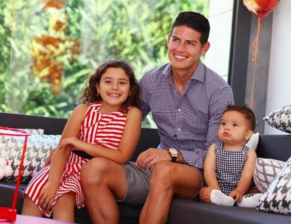 Daniela Ospina's ex-husband, James Rodriguez with his children.