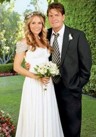 Max Sheen's parents, Charlie Sheen, and Brooke Mueller during their wedding.