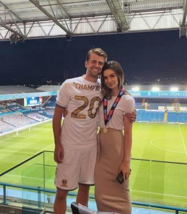 Patrick Bamford with his current girlfriend, Michaela Ireland.