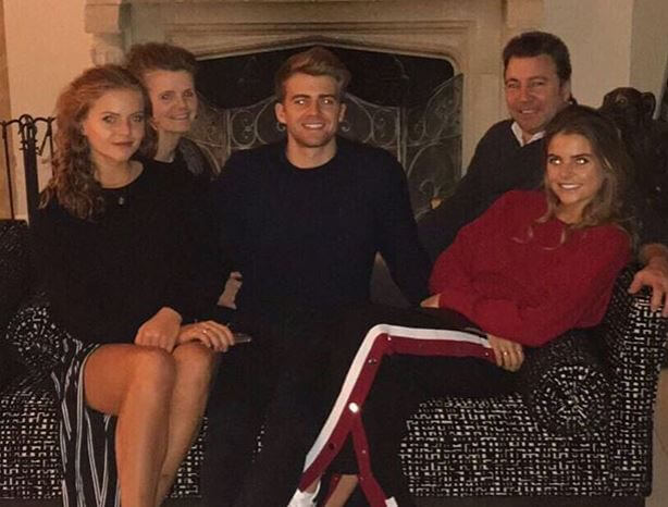 Patrick Bamford with his family.