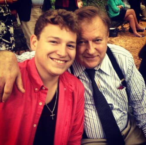 Leland Ingham Keyser's former husband, Bob Beckel with her son Alex.