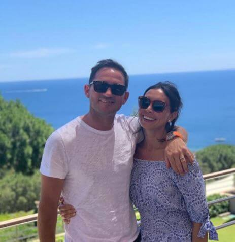 Patricia Charlotte's parents, Christine Lampard and Frank Lampard.