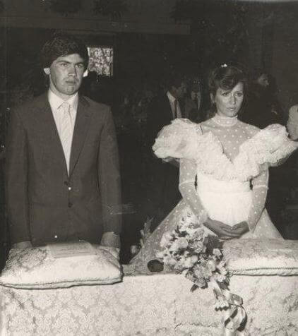 Luisa Gibellini and Carlo Ancelotti during their wedding.