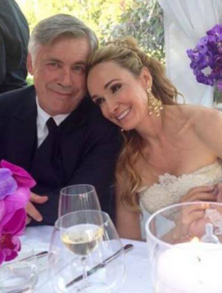 Luisa Gibellini's ex-husband, Carlo Ancelotti with Mariann at their wedding.