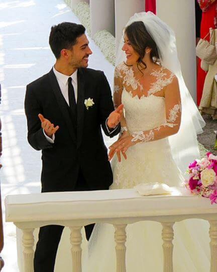Mino Fulco and Katia Ancelotti, during their wedding ceremony.