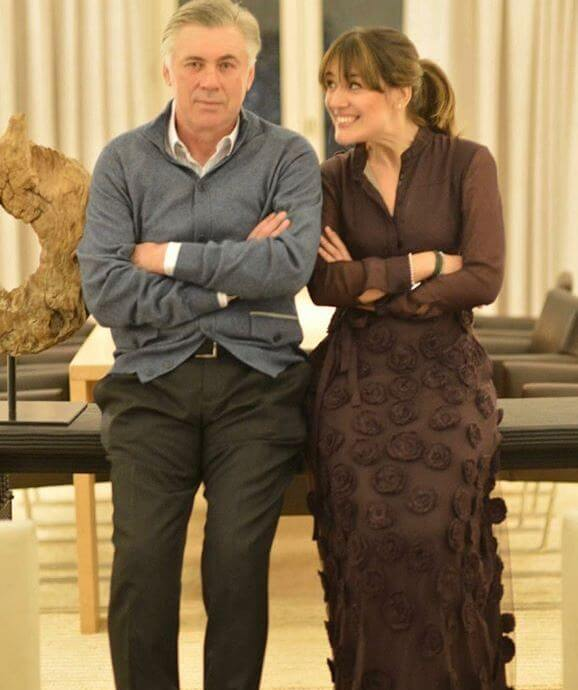Mino Fulco's wife, Katia Ancelotti, with her father, Carlo Ancelotti.