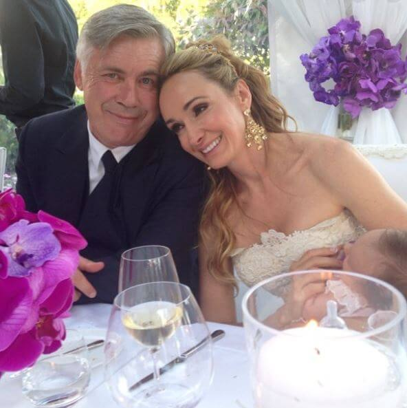 Wedding picture of Mariann Barrena McClay and Carlo Ancelotti.