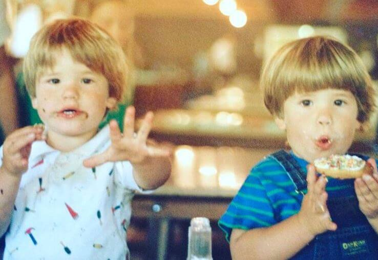 Childhood picture of Robert Martensen's son, Max Carver and Charlie Carver.