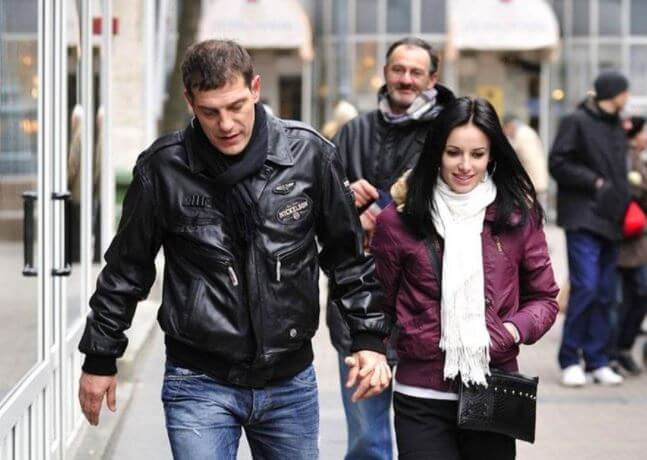 Andrijana Bilic's former husband, Slaven Bilic, with his girlfriend, Ivana Deldum.