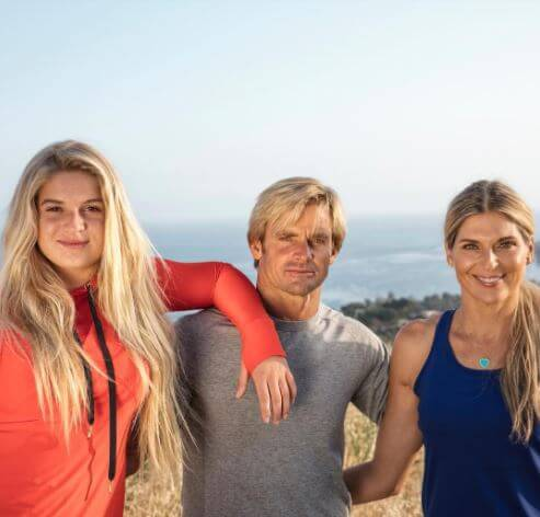 Reece Viola Hamilton with her parents, Laird Hamilton and Gabrielle Reece.