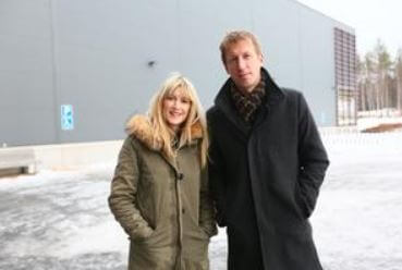 Rachel Potter with her husband, Graham Potter.