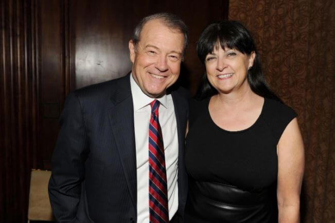 Deborah Varney with her husband, Stuart Varney.