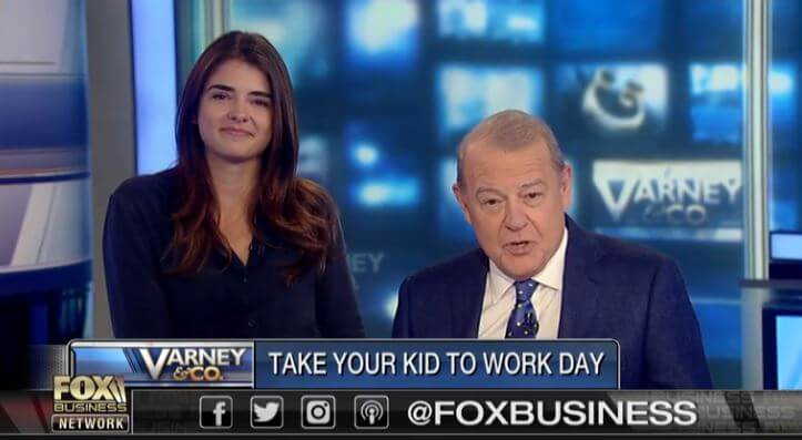 Deborah Varney's husband Stuart Varney and daughter, Angela Varney.