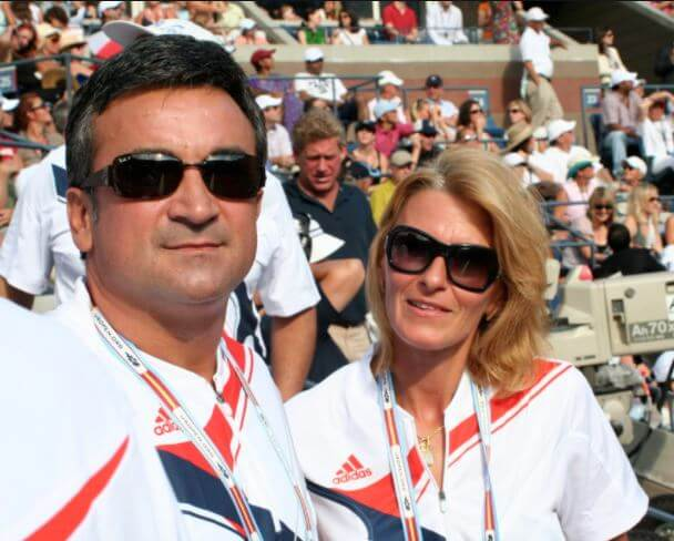 Dijana Djokovic with her husband, Srdan Djokovic.