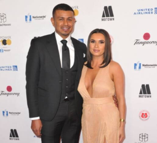 Joy Taylor with her ex-fiancé, Earl Watson.