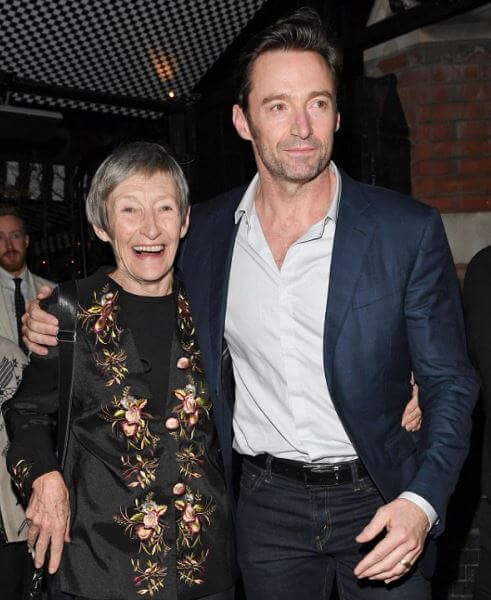 Christopher John Jackman's ex-wife, Grace McNeil with their son, Hugh Jackman.