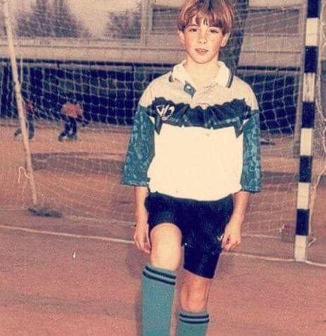 Olalla Dominguez Liste husband Fernando Torres in his childhood days as a goalkeeper.