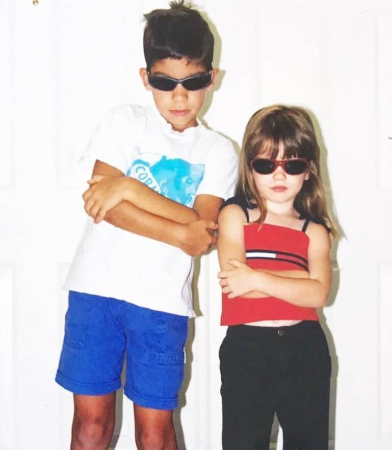 Dytto with her brother when they were young.