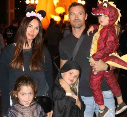 Journey River Green with parents Megan Fox and Brian Austin Green and brothers.