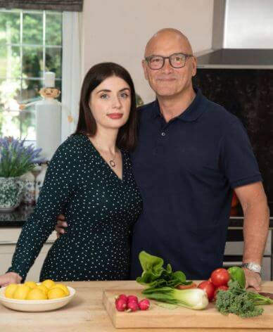 Anne-Marie Sterpini with her husband Gregg Wallace.