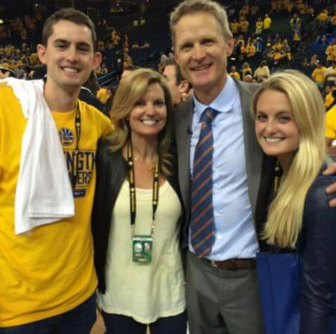 Madeleine Kerr with her parents Steve Kerr and Margot Brennan and brother.