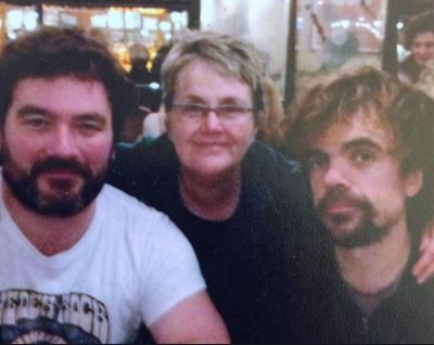 Diane Dinklage with her son Peter Dinklage and Jonathon Dinklage