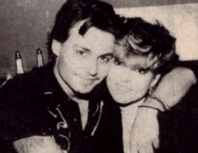 Christi Dembrowski with her brother Johnny Depp
