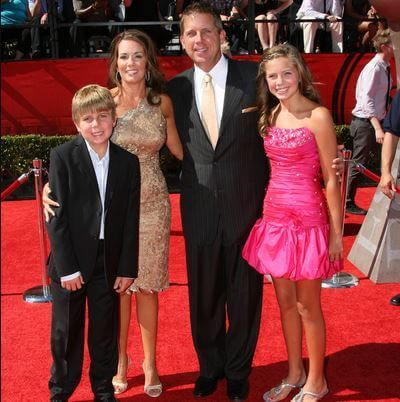 Beth Shuey with her ex-husband Sean Payton and children Meghan Payton and Connor Payton