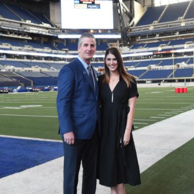 Lia Reich with her father Frank Reich