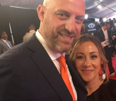 Stacey Nagy and her life partner Matt Nagy at an event