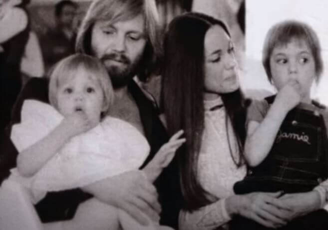 Marcheline Bertrand with her ex husband Jon Voight and children.